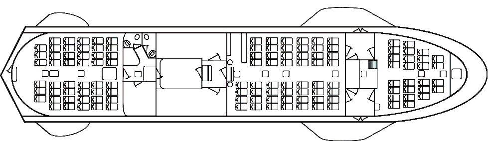 Схема теплохода Валаамский экспромт